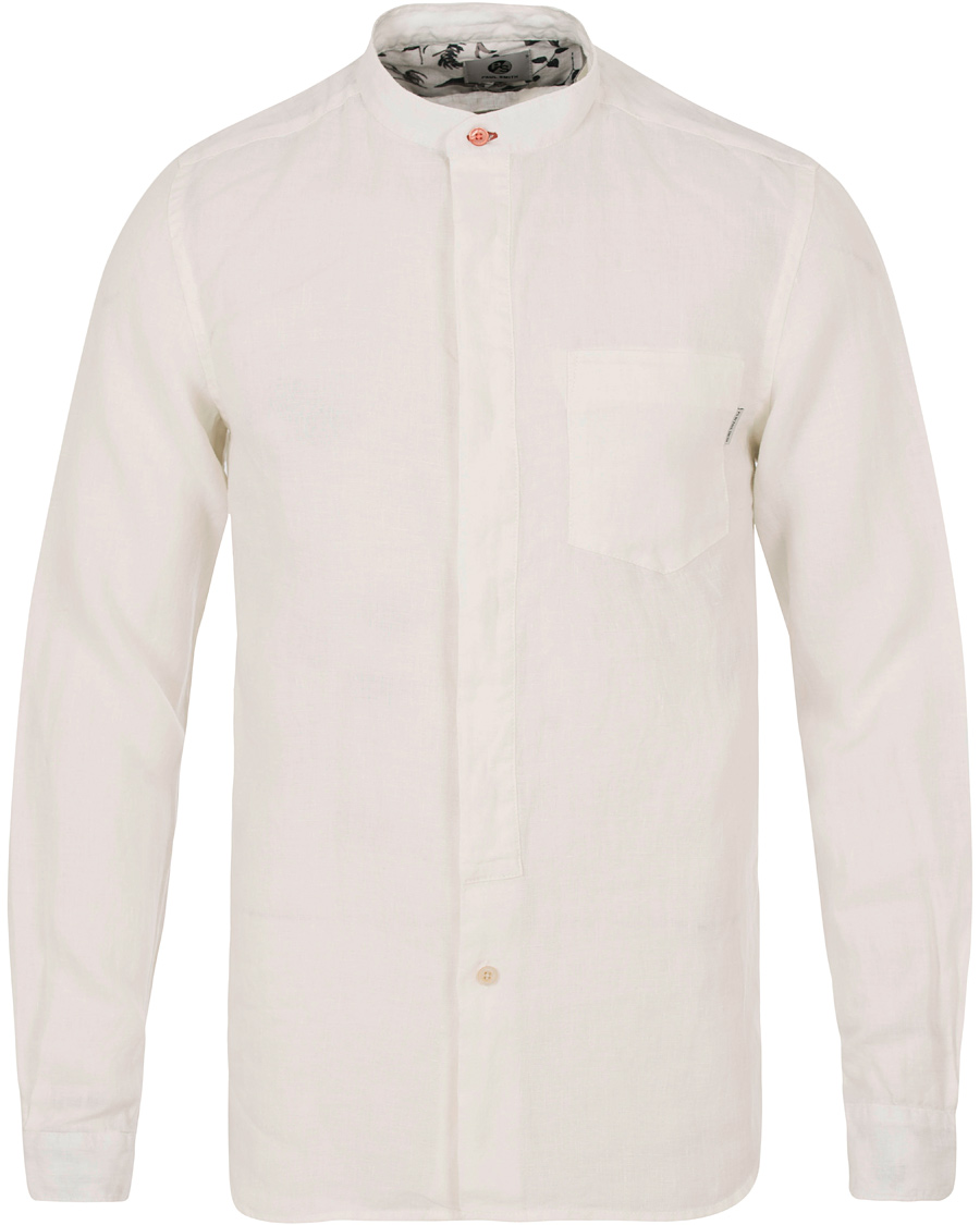 Ps by paul smith slim fit linen shirt white hos for Slim fit white linen shirt