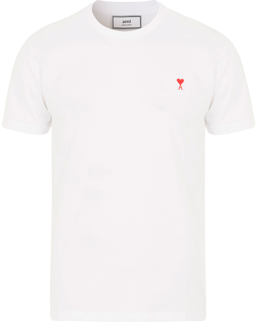 Ami crew neck t shirt white hos for Crew neck white t shirt