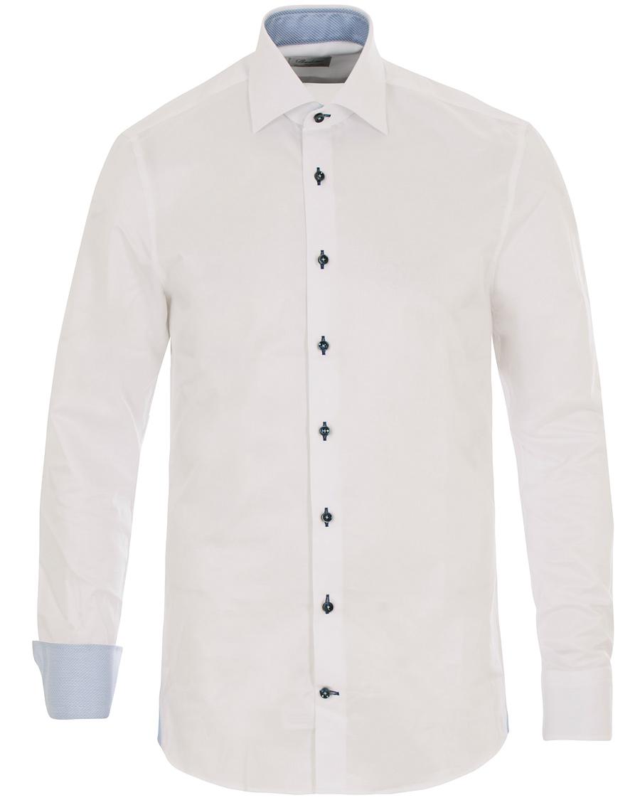 Stenströms Fitted Body Contrast Shirt White hos CareOfCarl.com ef95e41cd2d33