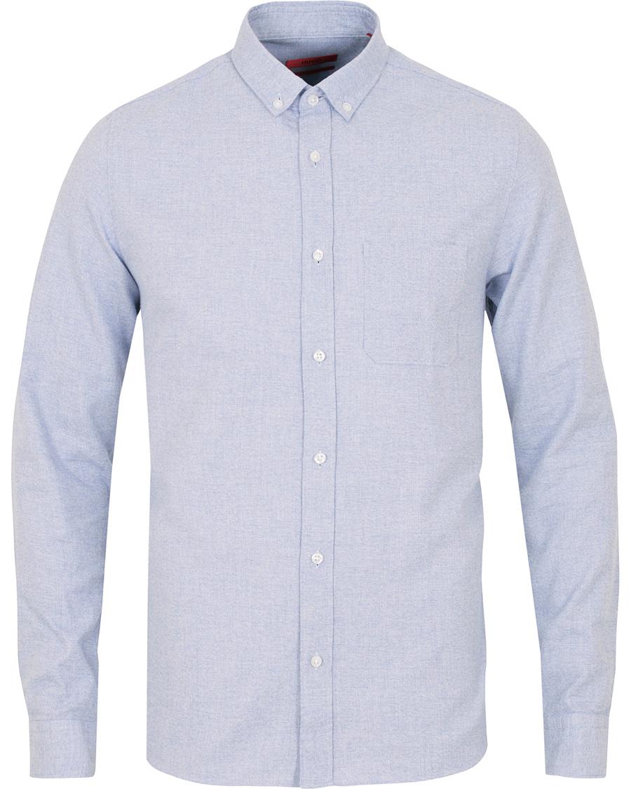 Hugo emingway slim fit flannel shirt light blue hos for Trim fit flannel shirts