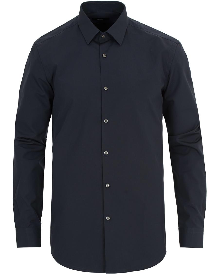 Boss isko slim fit shirt navy hos for Navy slim fit shirt
