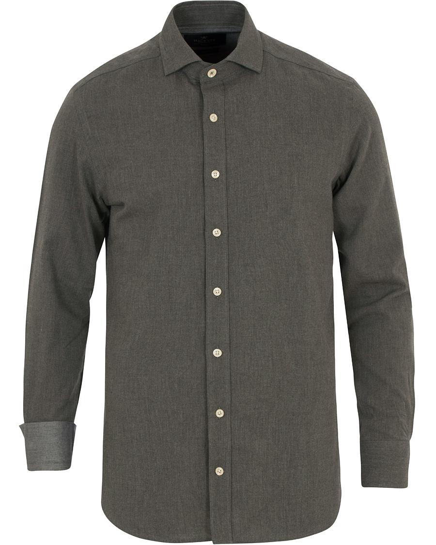 Hackett slim fit flannel shirt grey hos for Trim fit flannel shirts
