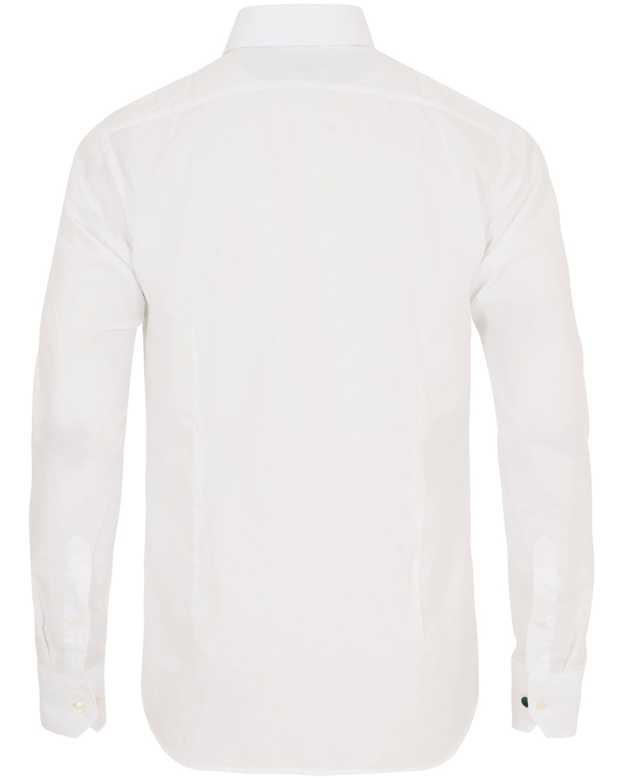 Eton slim fit flannel shirt white hos for Trim fit flannel shirts