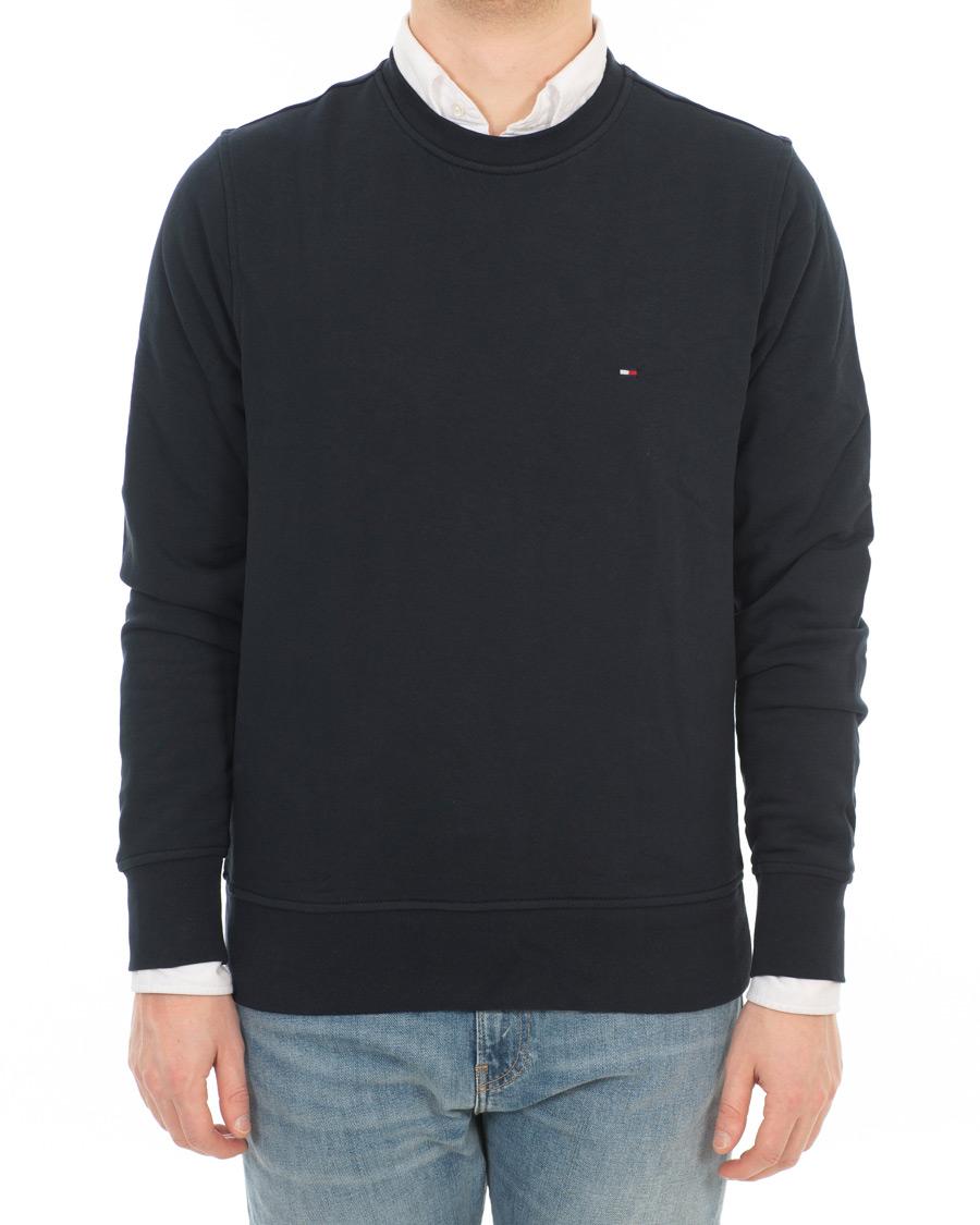 tommy hilfiger cotton crew neck sweatshirt sky captain hos careof. Black Bedroom Furniture Sets. Home Design Ideas