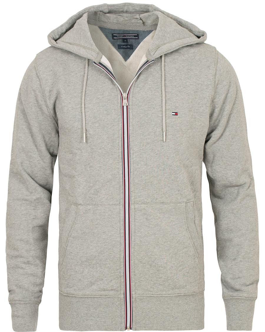 tommy hilfiger cotton full zip hoodie cloud heather hos careofcar. Black Bedroom Furniture Sets. Home Design Ideas
