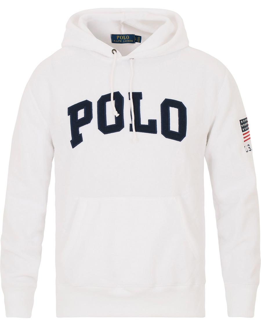 White polo hoodie