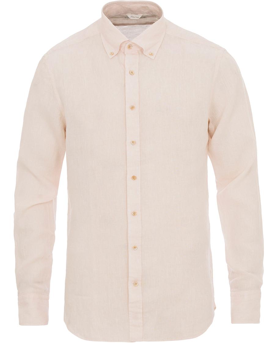 Stenströms Fitted Body Button Down Linen Shirt Beige hos CareOfCa 7d7bfcf7098a7