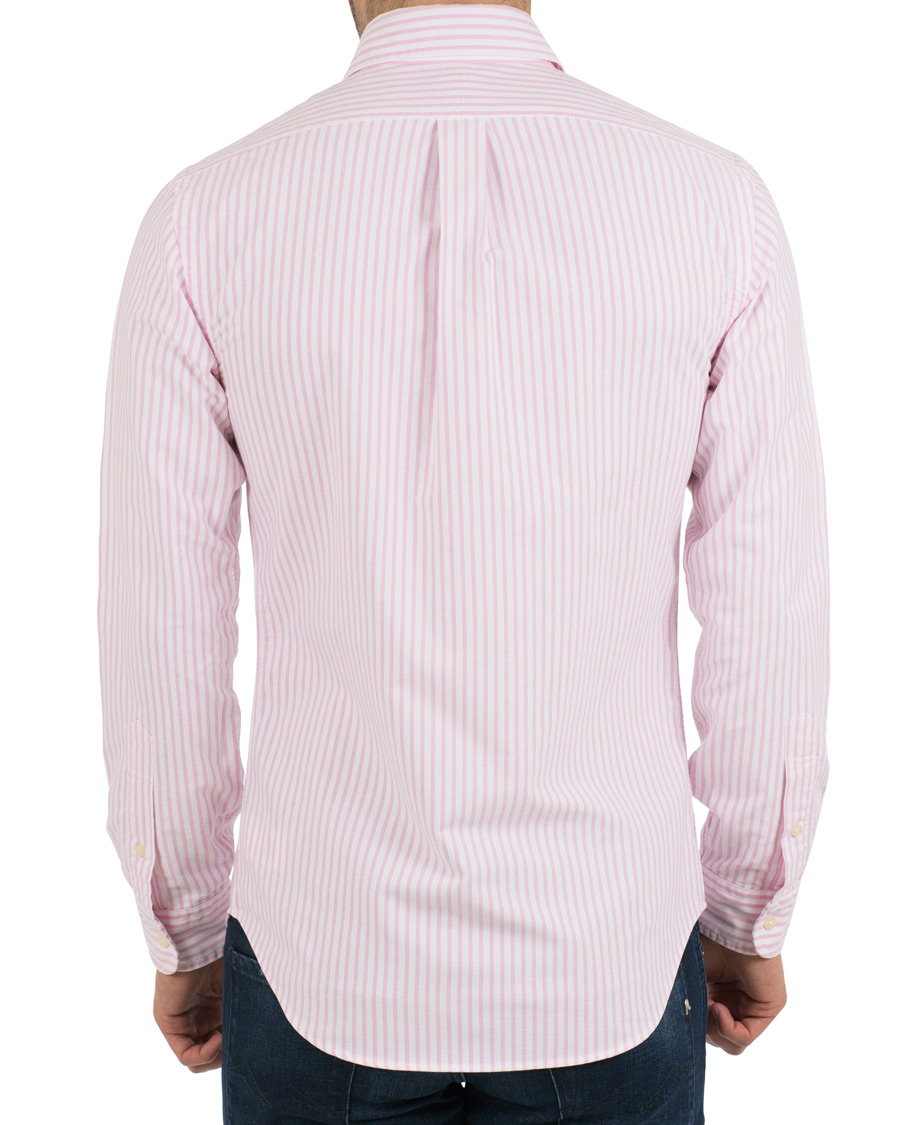 Polo ralph lauren slim fit oxford stripe button down shirt for Slim fit white button down shirt
