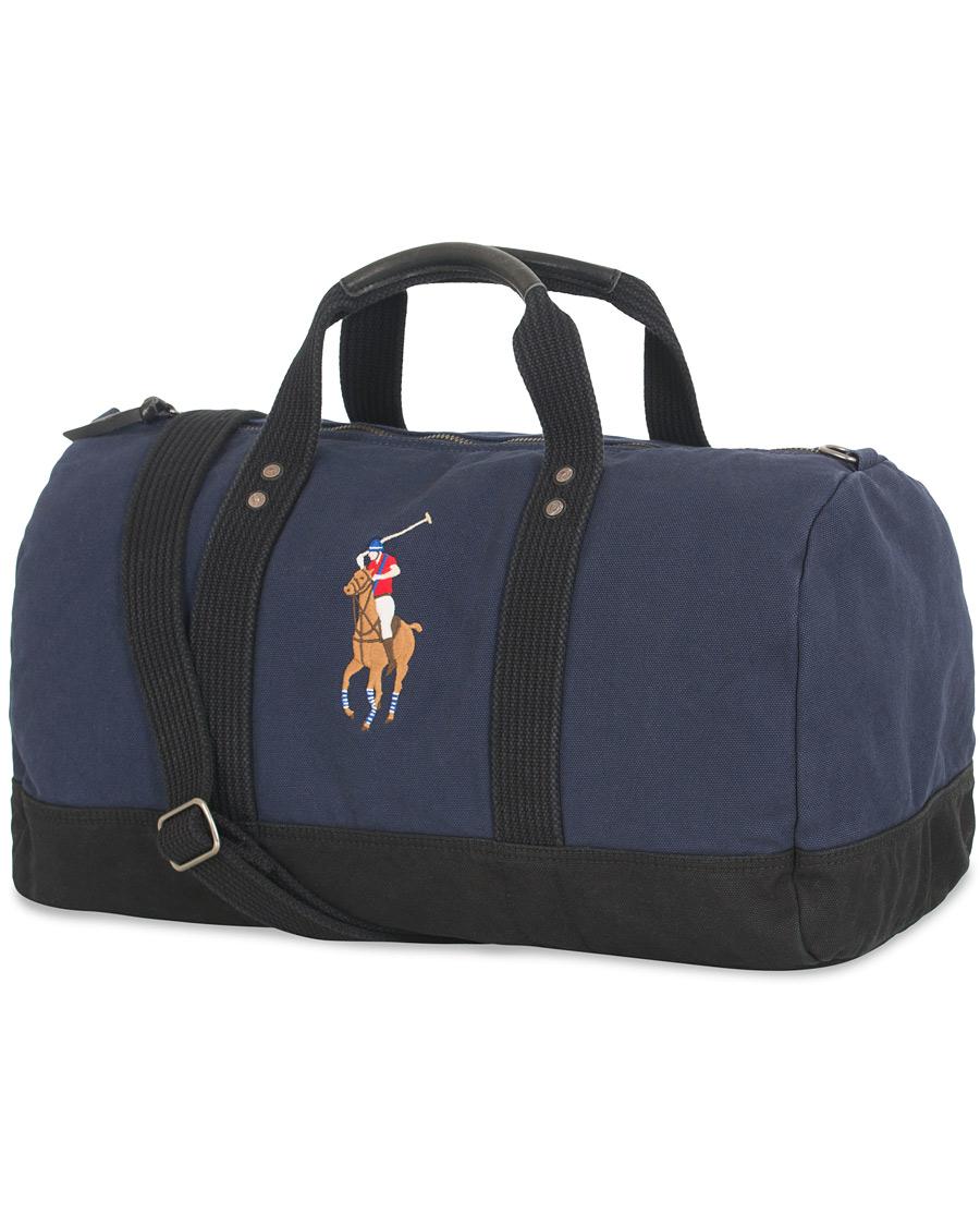 Polo Ralph Lauren Canvas Big Pony Weekendbag Navy Black hos Care 91f247584d