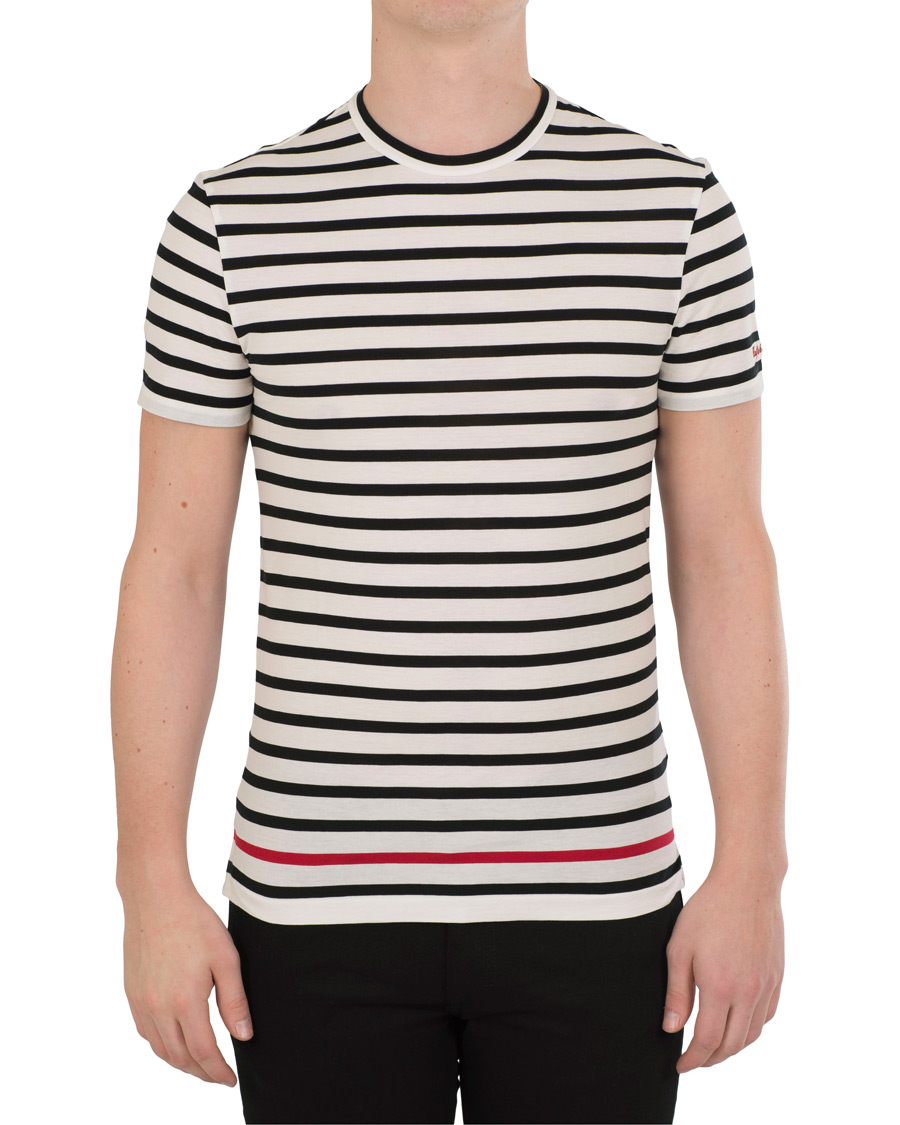Ralph lauren purple label lisle striped tee white polo for Purple and black striped t shirt