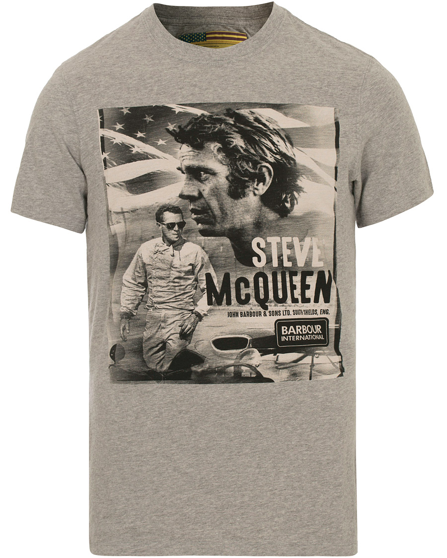 barbour international steve mc queen combine tee grey marl hos ca. Black Bedroom Furniture Sets. Home Design Ideas