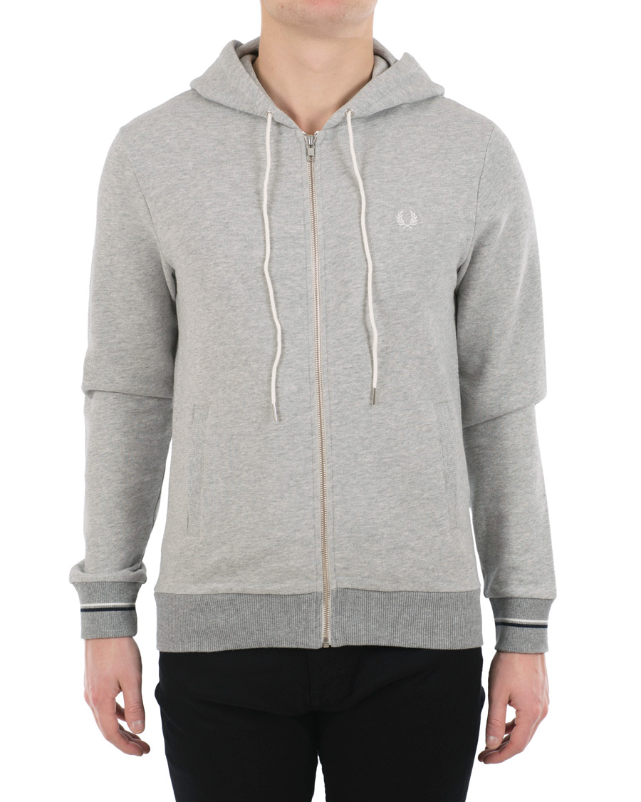 fred perry full zip hoodie vintage grey hos. Black Bedroom Furniture Sets. Home Design Ideas