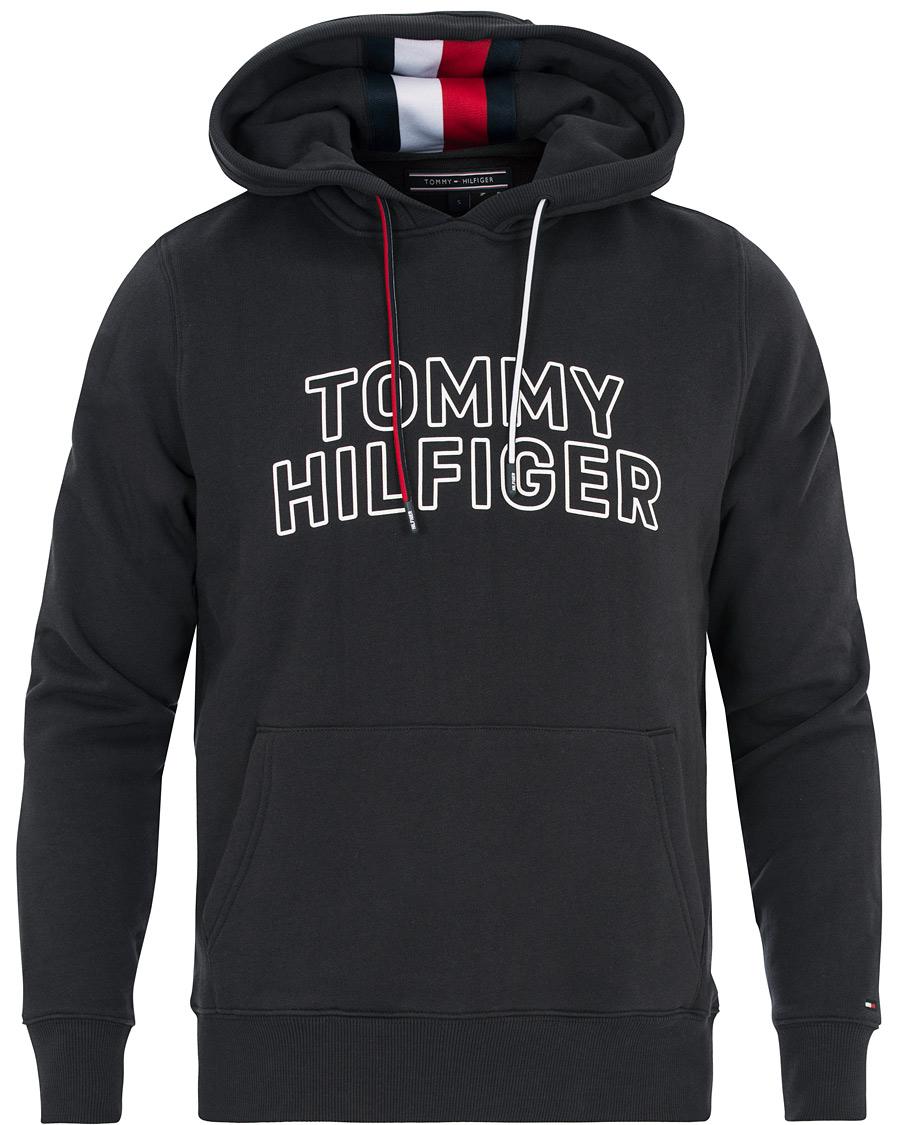 tommy hilfiger chest logo hoodie jet black hos. Black Bedroom Furniture Sets. Home Design Ideas
