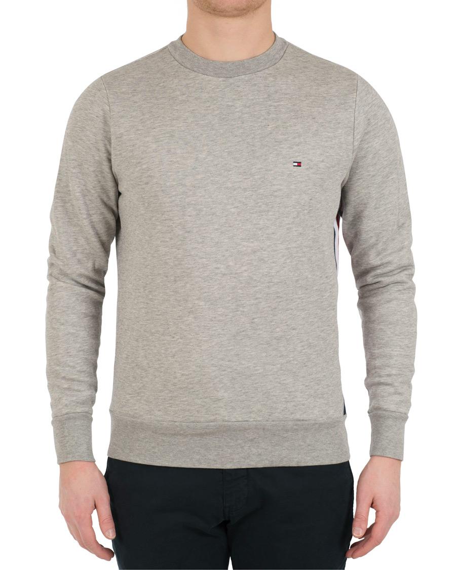 tommy hilfiger stripe logo sweatshirt cloud heahter hos careofcar. Black Bedroom Furniture Sets. Home Design Ideas