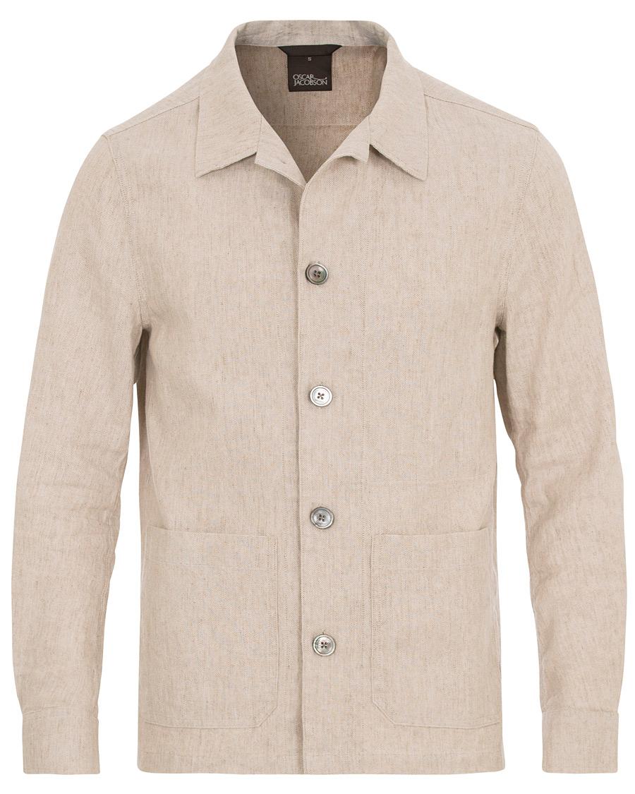 Oscar Jacobson Hannes Cotton/Linen Garment Wash Shirt ...
