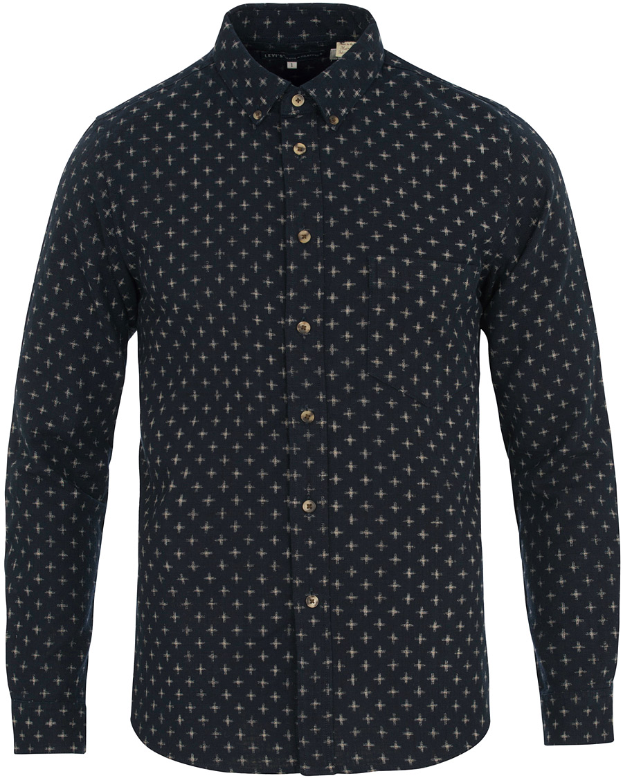 Levi 39 s made crafted printed shirt japanese blue hos for Levis made and crafted shirt