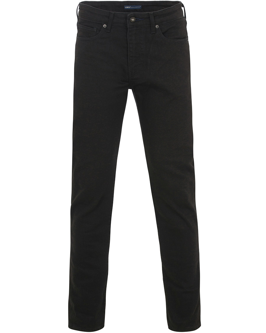 Levi 39 s made crafted needle narrow stretch jeans black for Levi s made and crafted