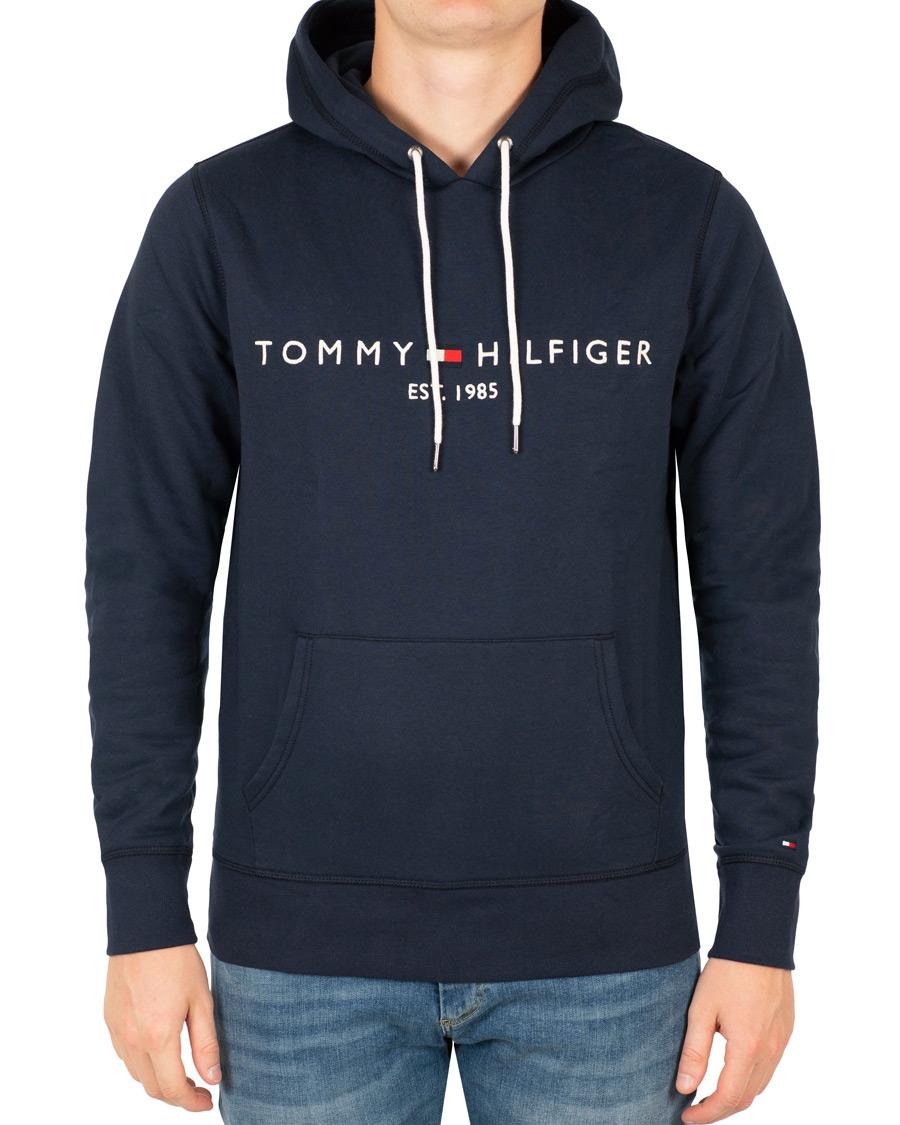 tommy hilfiger logo hoodie navy blazer hos. Black Bedroom Furniture Sets. Home Design Ideas