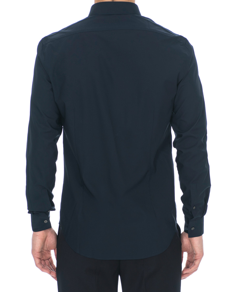 Calvin klein bari slim fit stretch poplin shirt midnight for Calvin klein slim fit stretch shirt