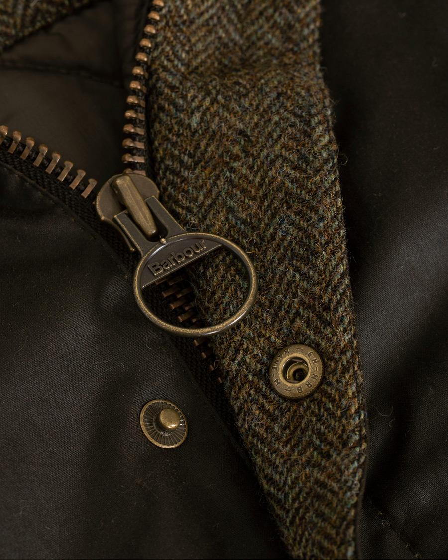 Barbour Lifestyle Hereford Wax Jacket Olive Hos Careofcarl Com