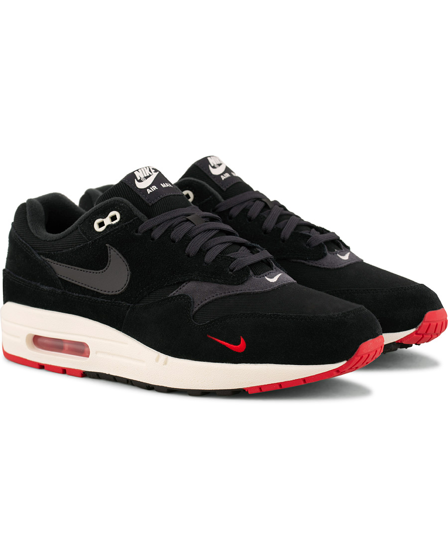 nike air max 1 running sneaker black hos careofcarlcom