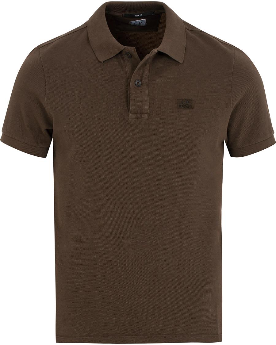 C p company short sleeve logo polo shirt cloud burst hos for Polo shirt with company logo