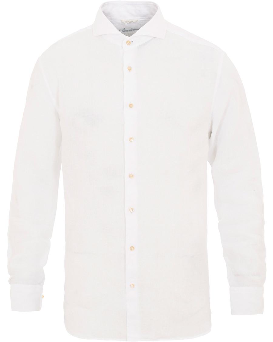 Stenströms Fitted Body Cut Away Linen Shirt White hos CareOfCarl. bb9d3b83d17e7