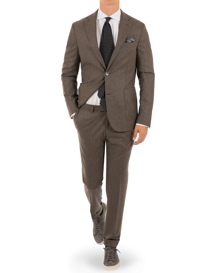 Einar Flannel Suit Light Brown Hos Careofcarl Com