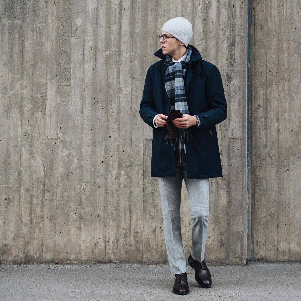 Dressat i vinterkylan