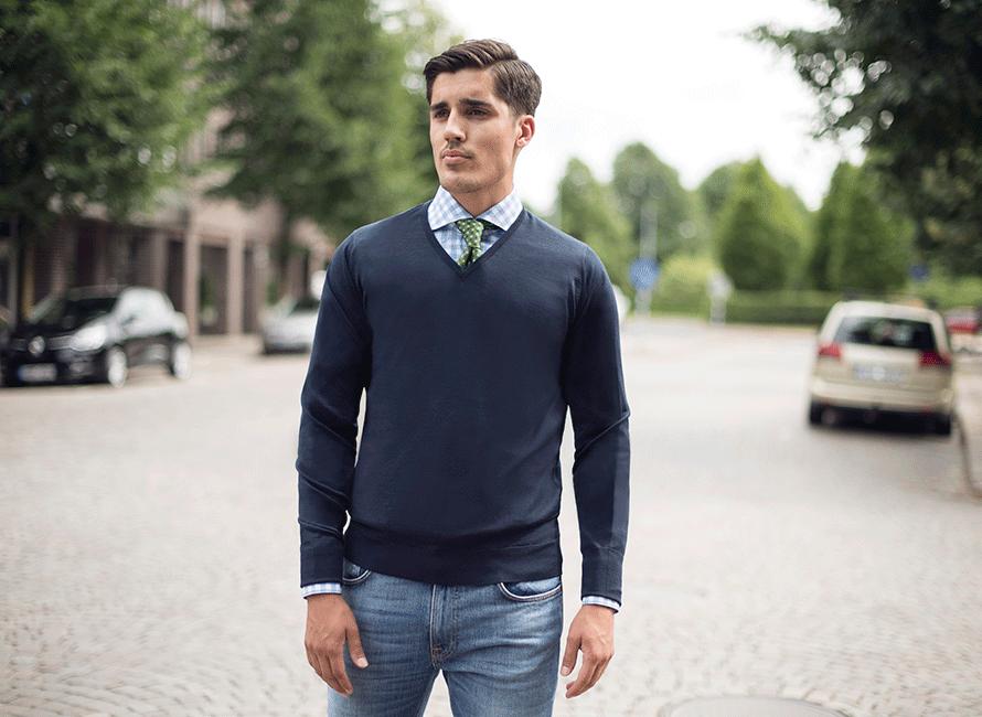 Guide  Så matchar du din skjorta och pullover  531e0a27ce1b4
