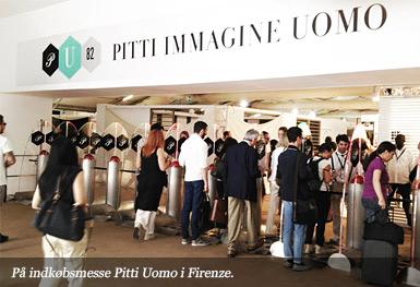 På indkøbsmesse Pitti Uomo i Firenze